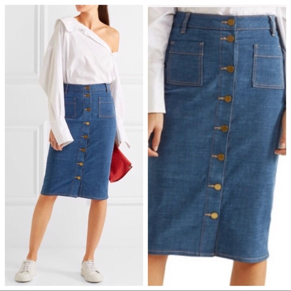 d9ac977742 Tory Burch Skirts | New Rivoli Stretch Denim Pencil Skirt | Poshmark